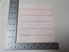 SRM BABY'S FIRST PINK BATH SMILE WORD TOOTH STEP STICKERS SCRAPBOOKING NEW A2778