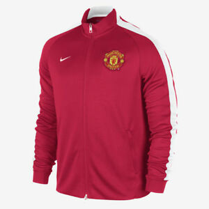 buy popular 567de 5e72a Details about NIKE MANCHESTER UNITED AUTHENTIC N98 JACKET Red/White