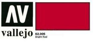 Vallejo-Premium-Colore-60ml-Rosso-Brillante-Spazzola-Aerografo-Pronto-Pittura