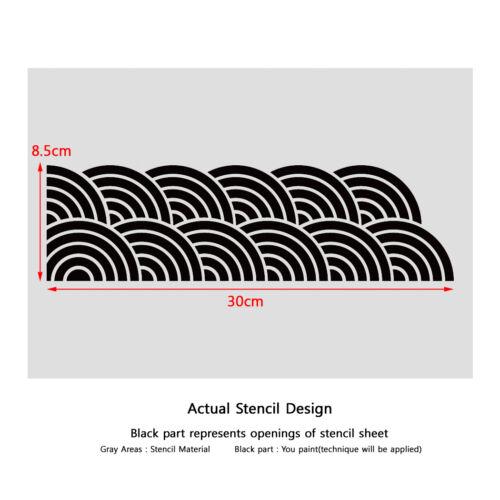 "Stencil Pared plantillas Nuevo 12,99 /""X9.05/"" Aerógrafo Pvc plantilla grandes Budismo"