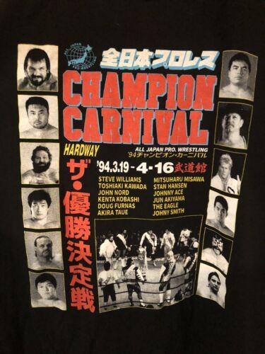 AJPW 1994 CHAMPION CARNIVAL 2XL TEE SHIRT XL CHAMP