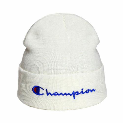 Top Champion Men Women Knit Ski Cap Hip-Hop Winter Warm Beanie Wool Hat Outdoor