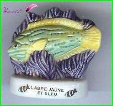 """Feve de collection Poisson Fish Edition Atlas """" Le Labre jaune et Bleue """" #E44"""