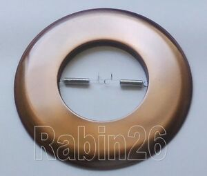 "6"" INCH RECESSED CAN LIGHT COPPER OPEN TRIM METAL RING R30 PAR30"