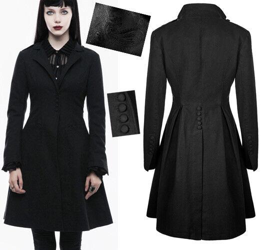 Veste manteau cintré évasé gothique punk lolita fashion plissé classe PunkRave
