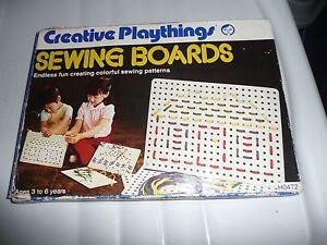VINTAGE-CREATIVE-PLAYTHINGS-SEWING-BOARDS-NIB