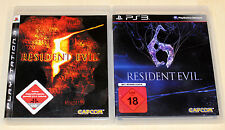 2 PLAYSTATION 3 giochi Bundle-Resident Evil 5 & 6-come nuovo-ps3