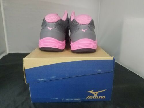 Mizuno Speed Trainer 5 Grey Pink Womens Sneakers//Shoes New In Box