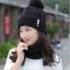US-Snow-Beanie-PomPom-Hat-Women-Thick-Warm-Soft-Cable-Scarf-Winter-Knit-2pcs-Set thumbnail 11