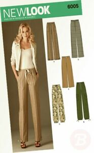 New-Look-A-10-12-14-16-18-20-22-Sewing-Pattern-6005-Misses-Pants
