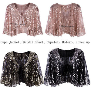 f5e2ec67d30ed2 Women s Flapper Shawls Wraps Cover Up Gatsby Cape Vintage Evening ...