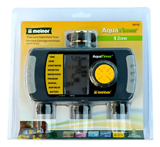 NEW Melnor AquaTimer 3-Zone 6 Cycle Digital Electronic Water / Hose Timer 15112