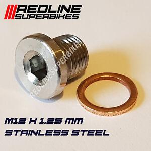 M12-x-1-25mm-Oxygen-o2-Lambda-Sensor-blanking-Plug-Cap-Stainless-Steel