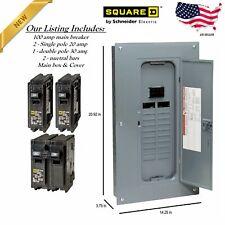 Electric Panel Main Breaker Box100 Amp 40 Circuit 20 Space Inc 2 20amp 1 30amp