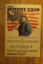 Johnny Cash Tour Poster 1978 Country Music Awards