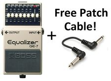 New Boss GE-7 Graphic Equalizer Guitar Pedal FREE Patch Cable!