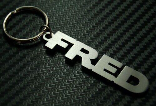 FRED Name Keyring Keychain Key Fob