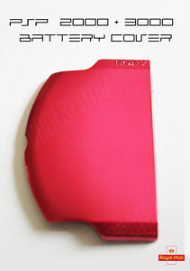 Metallic-Red-PSP-Slim-Lite-2000-3000-Replacement-Battery-Cover-UK-Dispatch