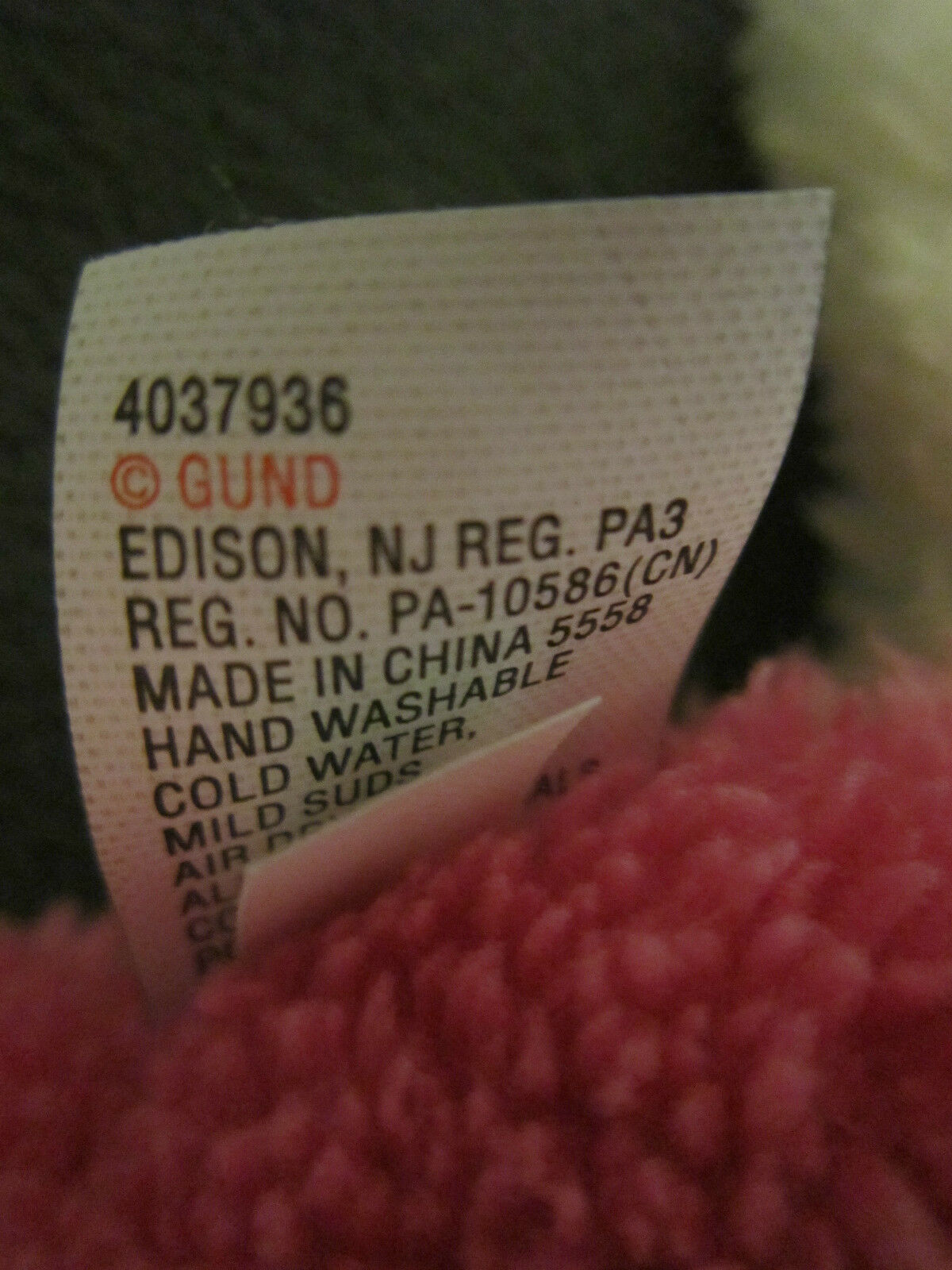 NWT GUND G5.0 Weiß SOFT PINK Weiß G5.0 PUPPY DOG PLUSH 4037936 9