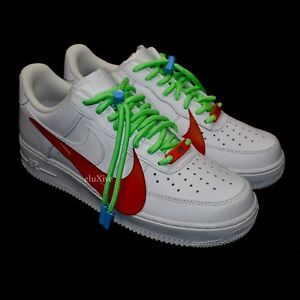 bb39f1ca447 NWT Nike Air Force 1 Low Men's ON WHITE 1/1 Custom Leather Sneakers ...