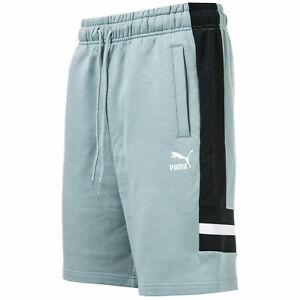 Homme-Puma-XTG-Coton-Jogger-Shorts-en-Gris-Noir