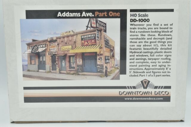 Downtown Deco HO Scale Rescue Mission w//funny sign Building kit Craftsman