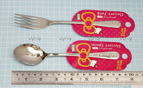 Sanrio Hello Kitty Dessert Spoon /& Fork Stainless Steel  Japan Made ==