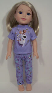 "Debs 2pc Pajamas w//Max The Dog PJs Doll Clothes For 14/"" AG Wellie Wishers"