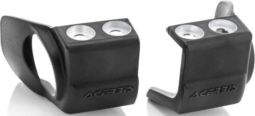 Acerbis Yamaha Lower Fork Shoe Protectors-YZ 125-450F-08-20-Black