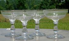 Thouvenin Vierzon? - Lot de 4 coupes à champagne en verre gravé
