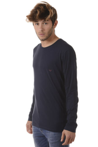 en Emporio shirt 135 coton 1110237a725 Tee Homme shirt bleu Armani T Sweat shirt 5XSFqqHw