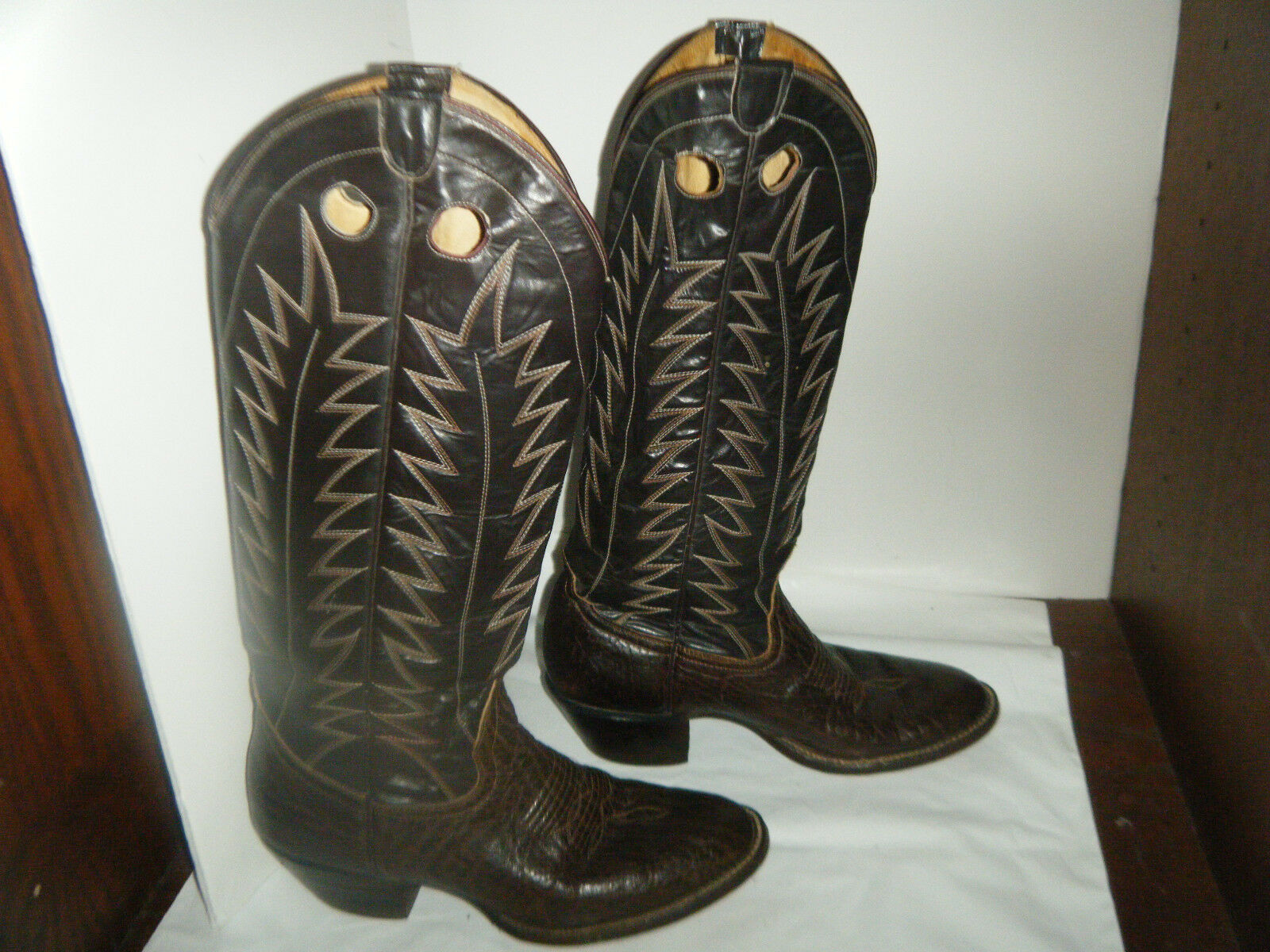 Vintage  Cowboy  Brown Stivali Size  7.5 D Uomo Used