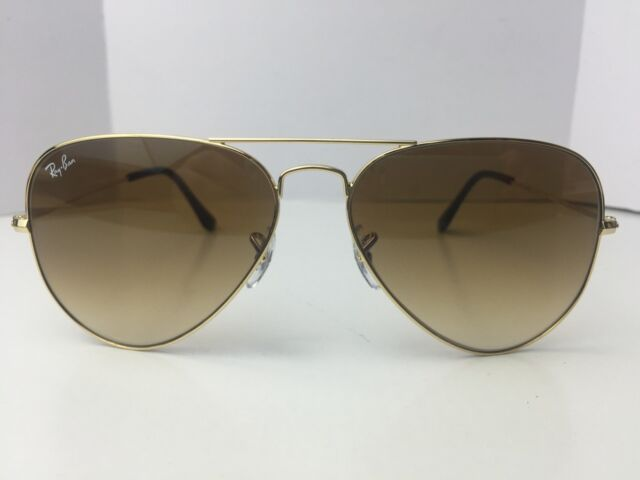Authentic Ray Ban Aviator Rb3025 001/51 62mm Brown Gradient Lens ...