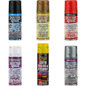 Glitter effect colour aerosol spray paint decorative for Spray glitter for crafts