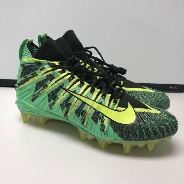 size 40 91a9b 952f6 Nike Alpha Menace Elite 871519 337 GREEN VOLT Men s Football Cleats Sz 12   200