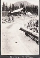VINTAGE 1919 WATER STATION PIKES PEAK COLORADO STEAMBOAT SPRINGS OLD CARS PHOTO