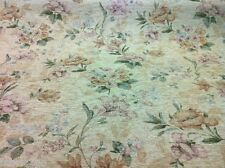 Cream Floral Chenille Upholstery Curtain Fabric Material Mobus Fabrics CLEARANCE