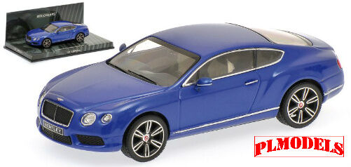 MINICHAMPS - BENTLEY CONTINENTAL GT V8 2011 BLUE METALLIC 1:43 SCALE #436 139982