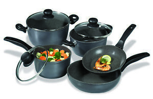 Stoneline-Black-Cookware-Set-8-Pieces