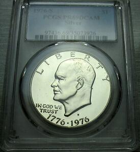 1976-S-Silver-1-Ike-Eisenhower-Dollar-PCGS-PR-69-DCAM