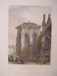 France-Dieppe-Church-of-St-Jacques-Dessin-David-Roberts-Gravure-T-Higham