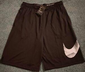7dc62f1e1dd4 NWT Mens Nike 4XL Black Gray BIG SWOOSH Dri-Fit Shorts XXXXL ...