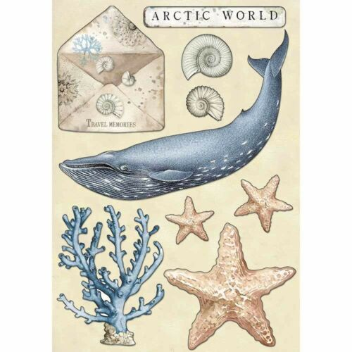 NEW Stamperia Arctic World A5 Wooden Shapes Coloured