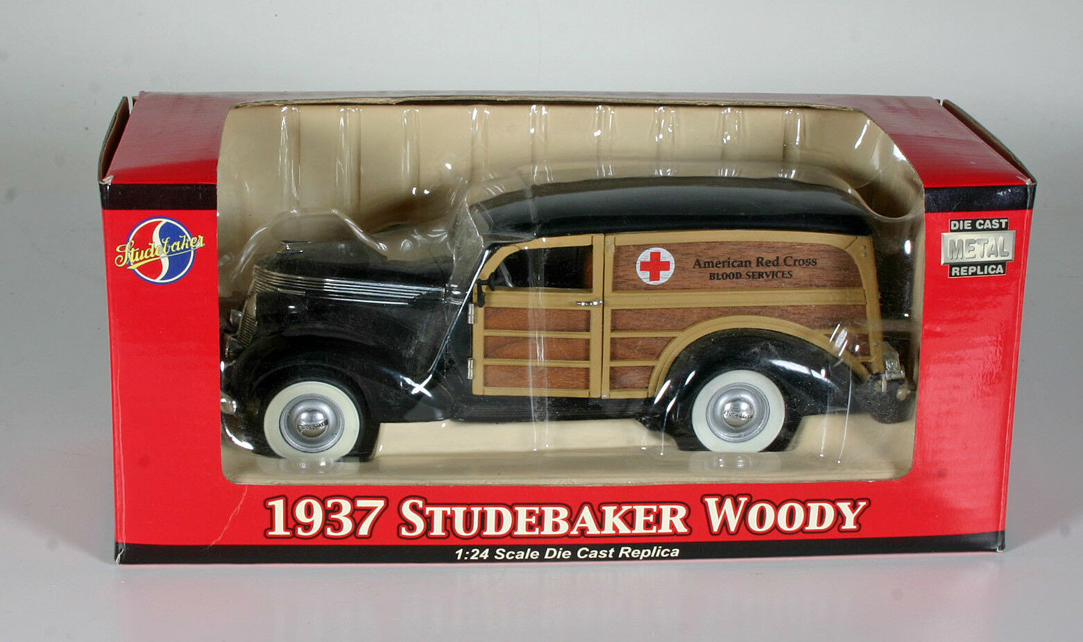 Red Cross Toy 1937 Studebaker Woody - New with original box