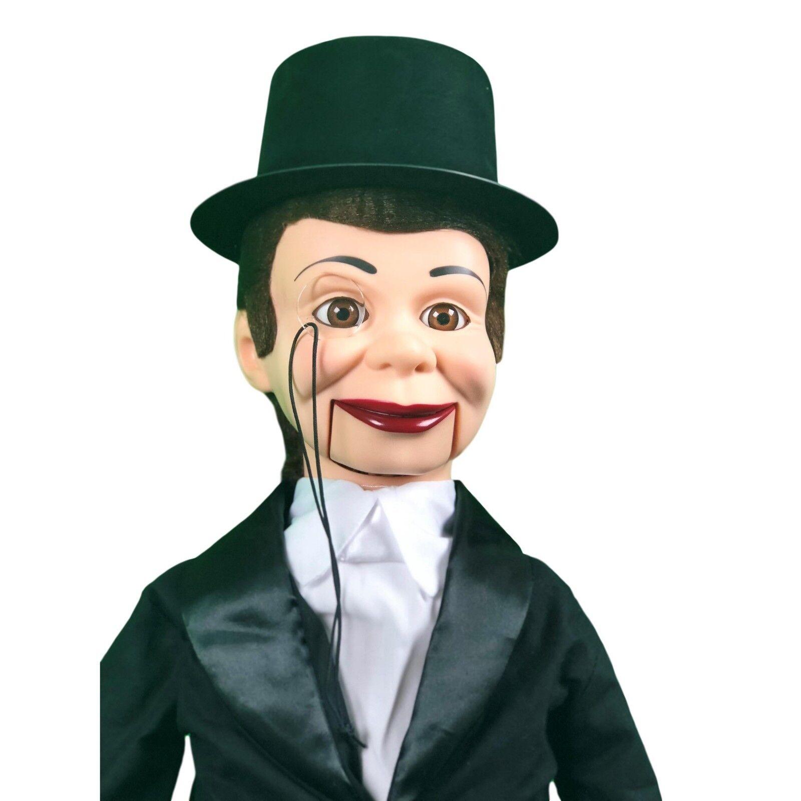 Charlie McCarthy Deluxe actualización Ventrílocuo Marioneta De Muñeca maniquí con ojos en movimiento