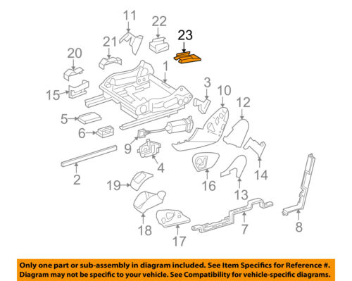 Mercedes MERCEDES-BENZ OEM R350 Seat Track-Track End Cover Right 25191904208K67