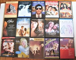 Lot-of-15-DVDs-Ben-Hur-Ghost-Les-Miserables-John-Lennon-Dolly-Parton-Fur