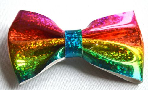 NEW 8cm Holographic multi coloured rainbow hair clip fashion