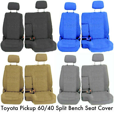 RealSeatCovers for Front 60//40 Split Bench A57 Triple Stitched Thick Custom Made Seat Cover for Toyota Pickup 1990-1995 Exact Fit Blue