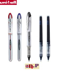 Uni-ball Vision Elite UB-200 0.8mm Tip Rollerball BLUE Pen Pack Of 5